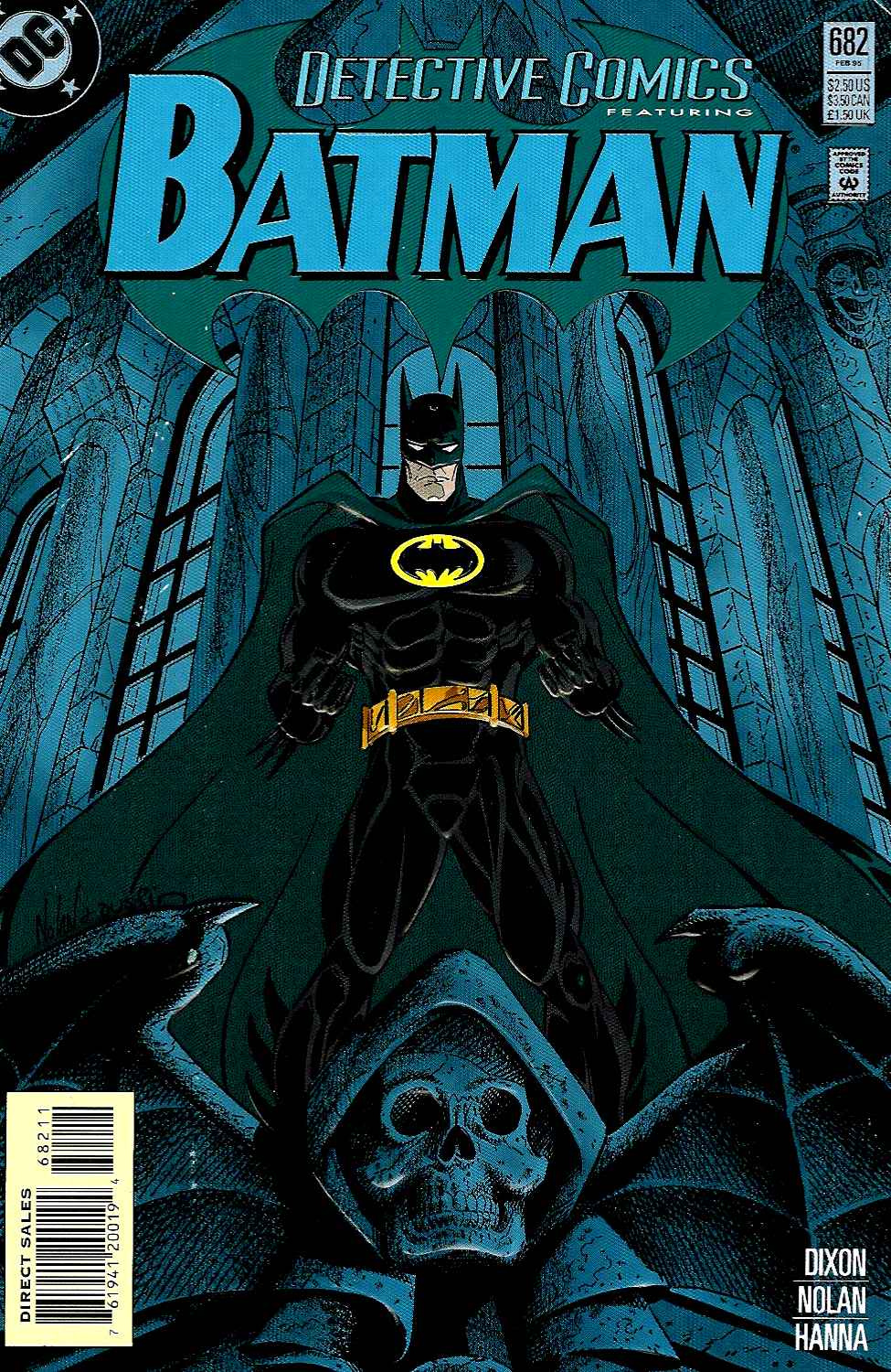 1995: Troika Batman – When Bruce Wayne returned to the mantle, the suit went back to black, keeping the yellow oval encasement.