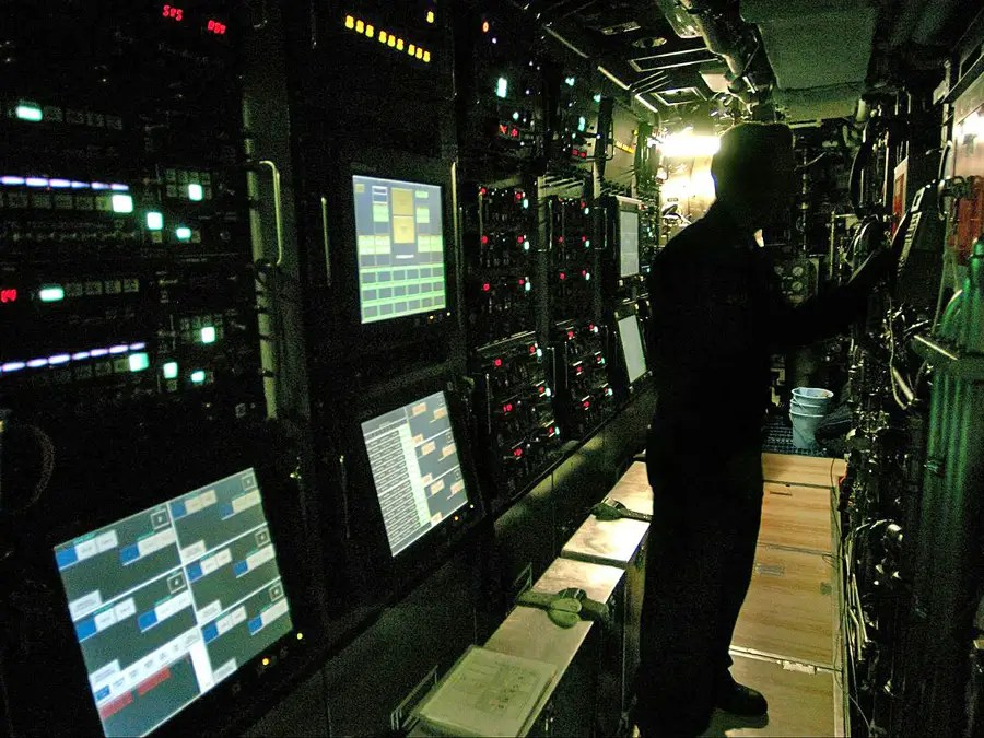 The only thing in front of the torpedo room is the bow of the submarine, which contains sonar equipment and shielding designed to make the sub stealthier