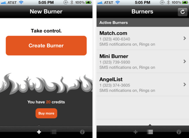 Burner is an app that gives you control back over who you share your phone number with.