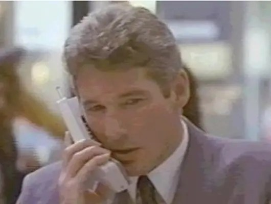 """1990: Richard Gere uses an early cell phone in """"Pretty Woman."""""""