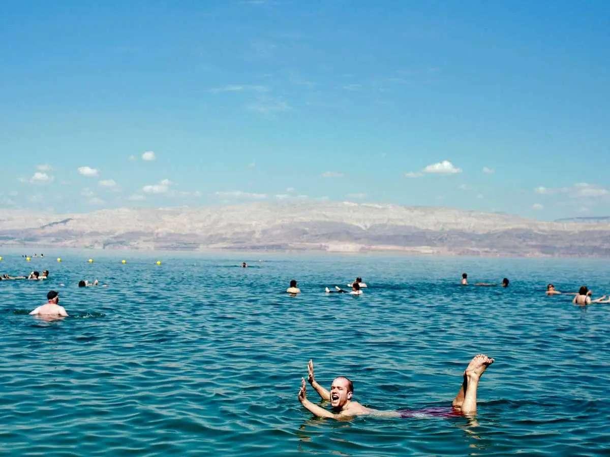 Float in the Dead Sea in Israel.