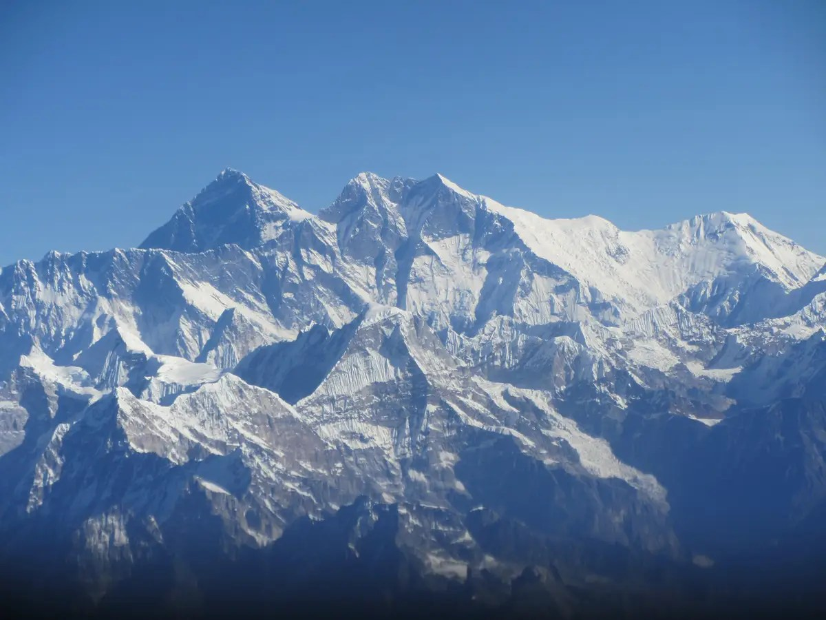 Breathe in the fresh air at Mt. Everest in the Himalayas.