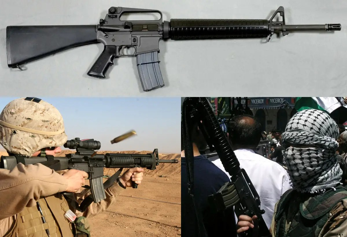 The M16 Rifle — Despite its slow start in the Vietnam war, where the weapon was prone to not feed rounds into the chamber properly during moments of intense combat, the M16 has ironed out its kinks and is currently the standard weapon of choice for the U.S. armed forces, where it has performed flawlessly through the first Gulf War, Iraq, and Afghanistan.