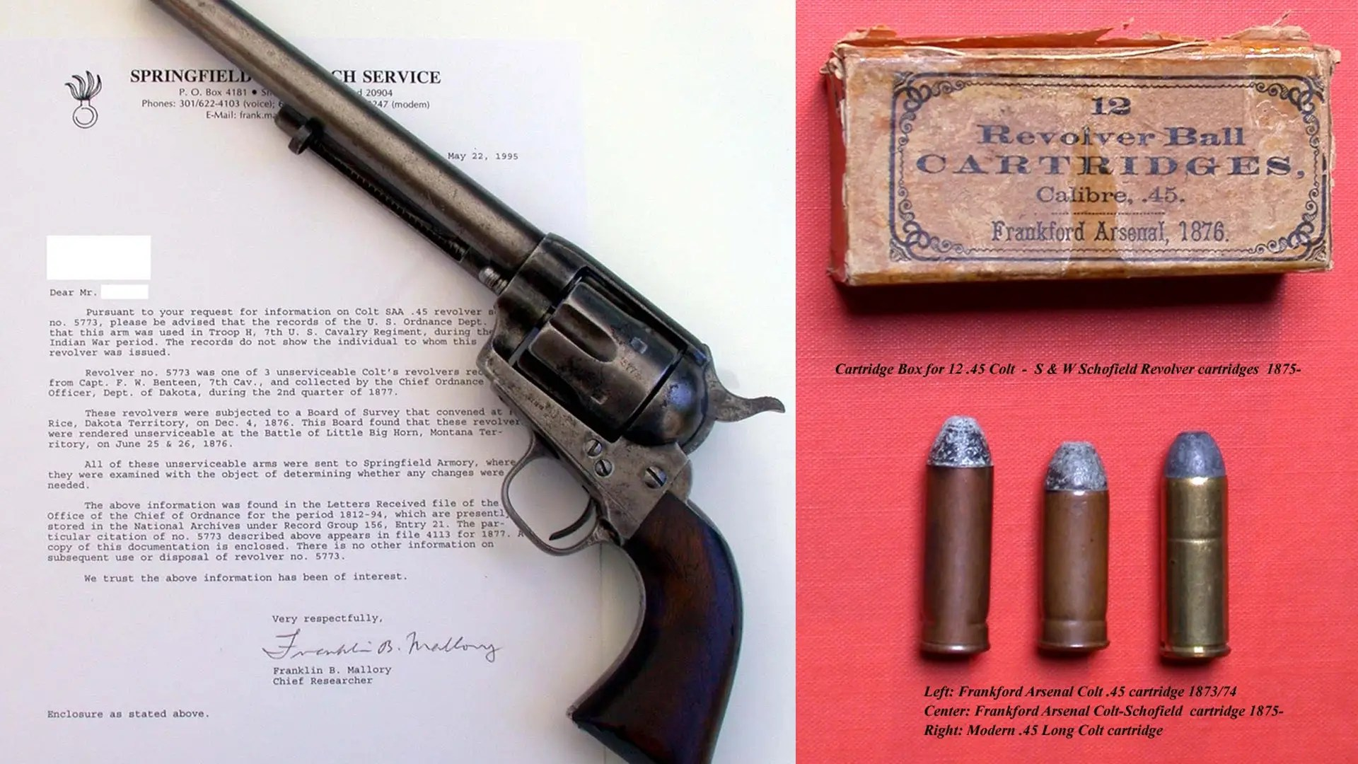 "The Colt Single-Action Army Revolver — designed for the U.S. cavalry by historic gun maker Colt, this pistol defined the Wild West. When people refer to old ""six shooters,"" this is the gun."