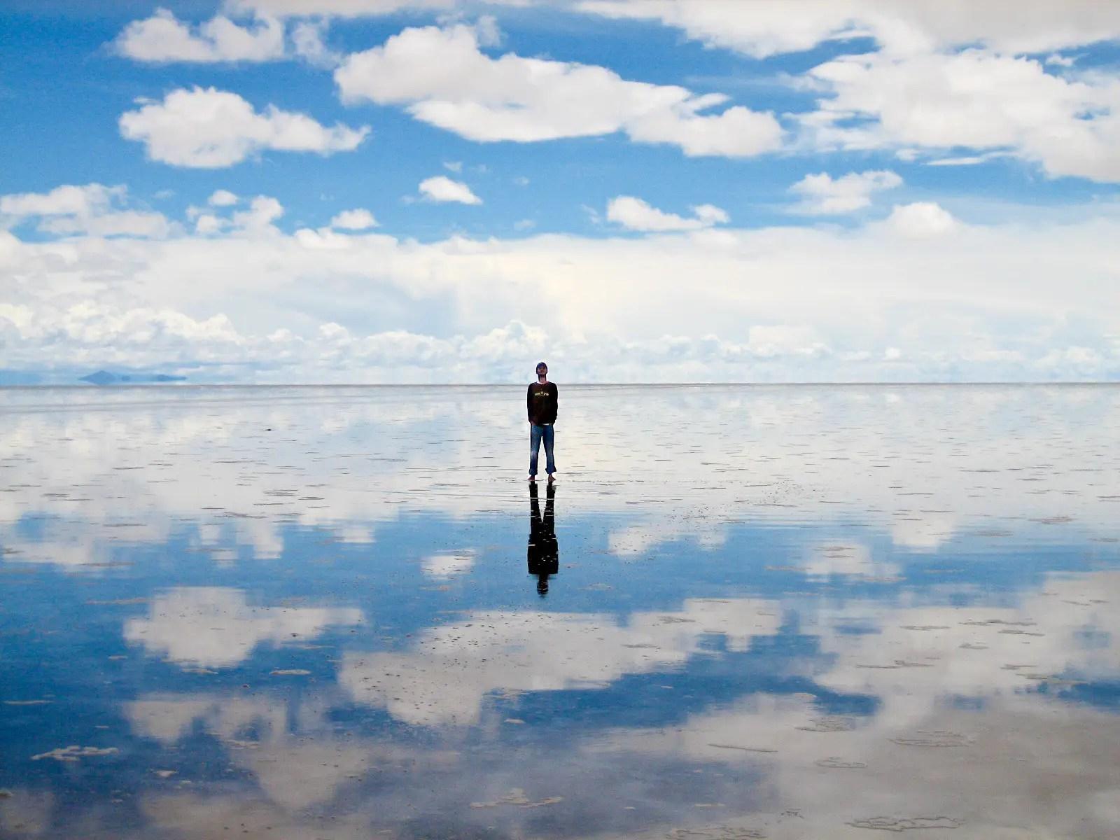 Trek to the Salar de Uyuni, the massive salt flat in Bolivia.