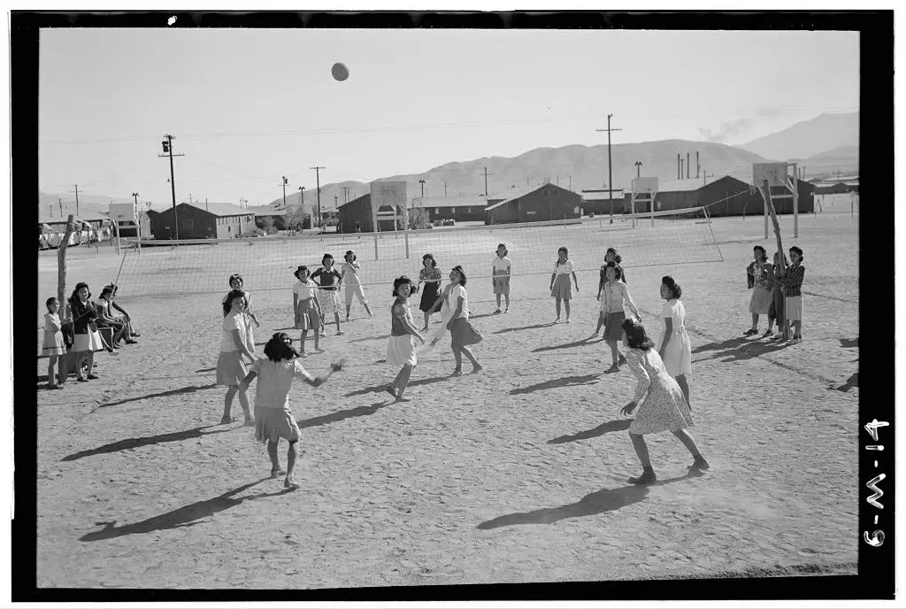 Or these women playing volleyball.