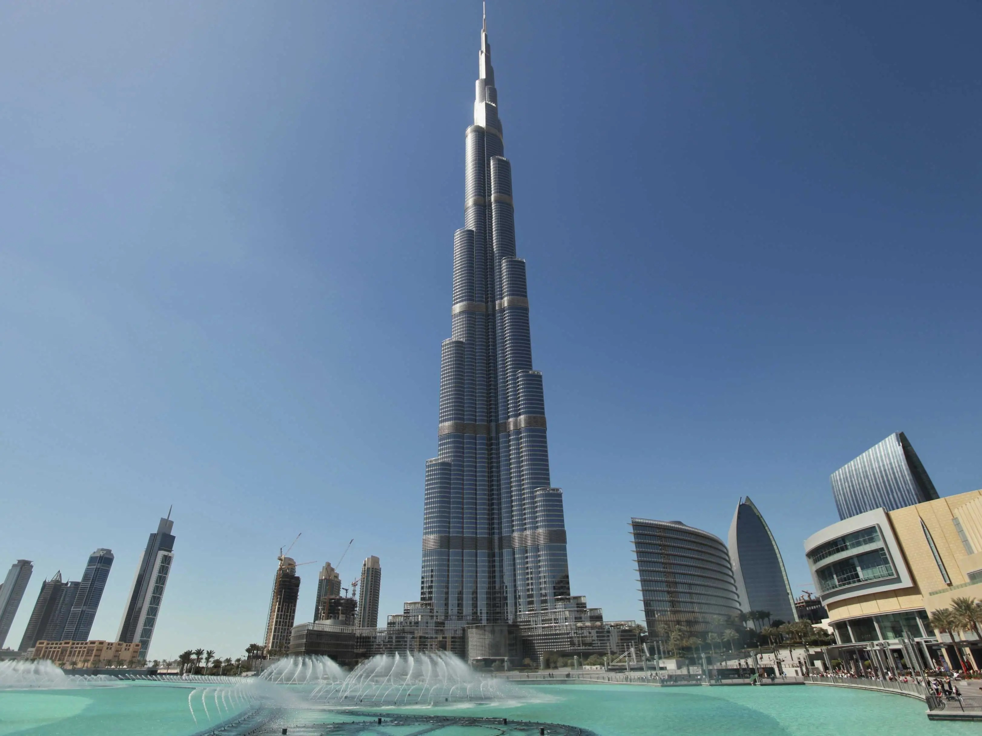 Take in the view from the observation deck of Dubai's Burj Khalifa, the world's tallest building.