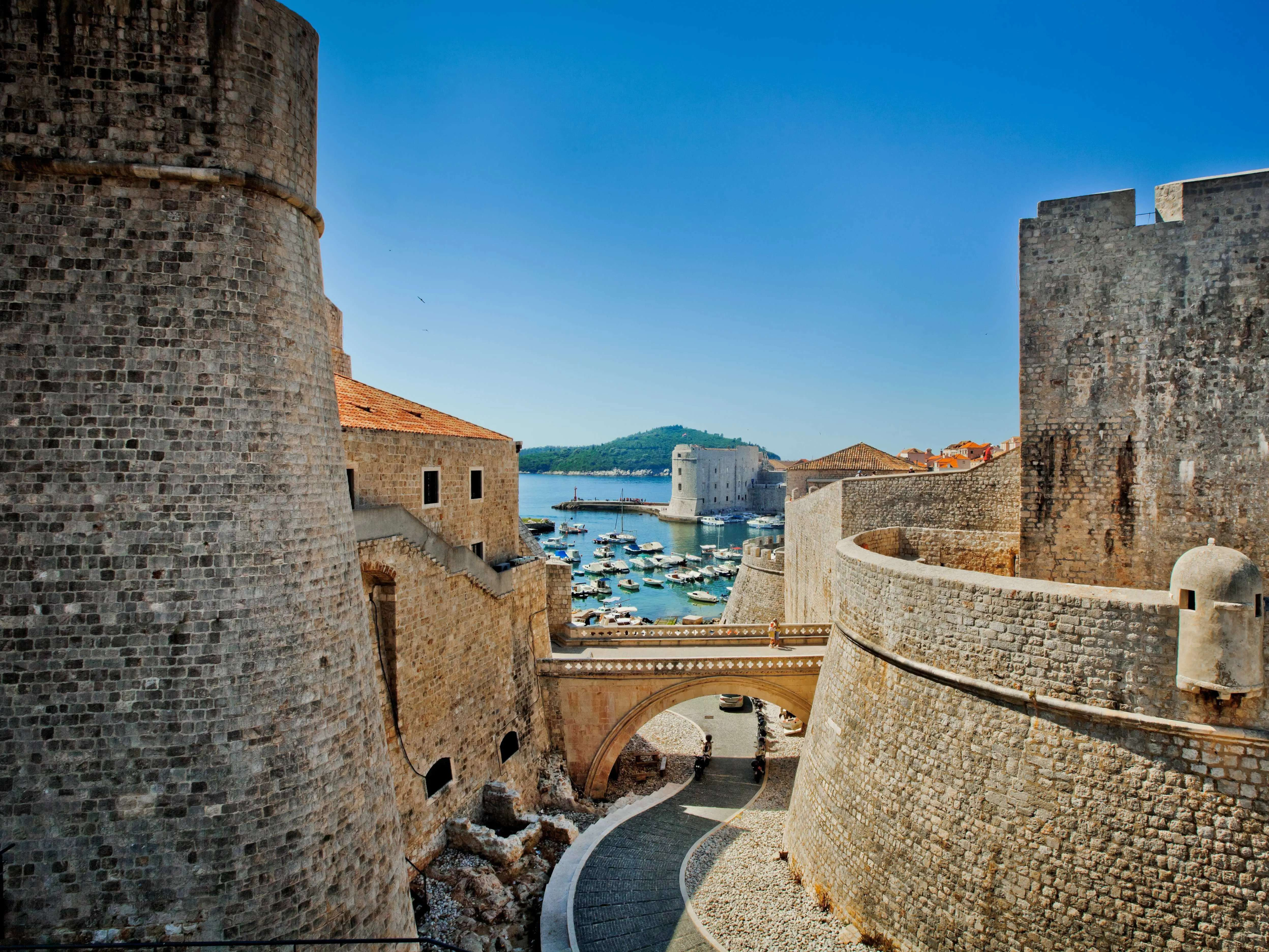 Walk along the Walls of Dubrovnik, which have protected the Croatian city since the 7th century.