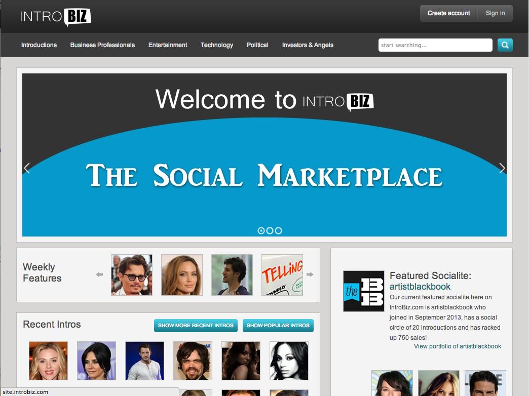 introbiz.com homepage