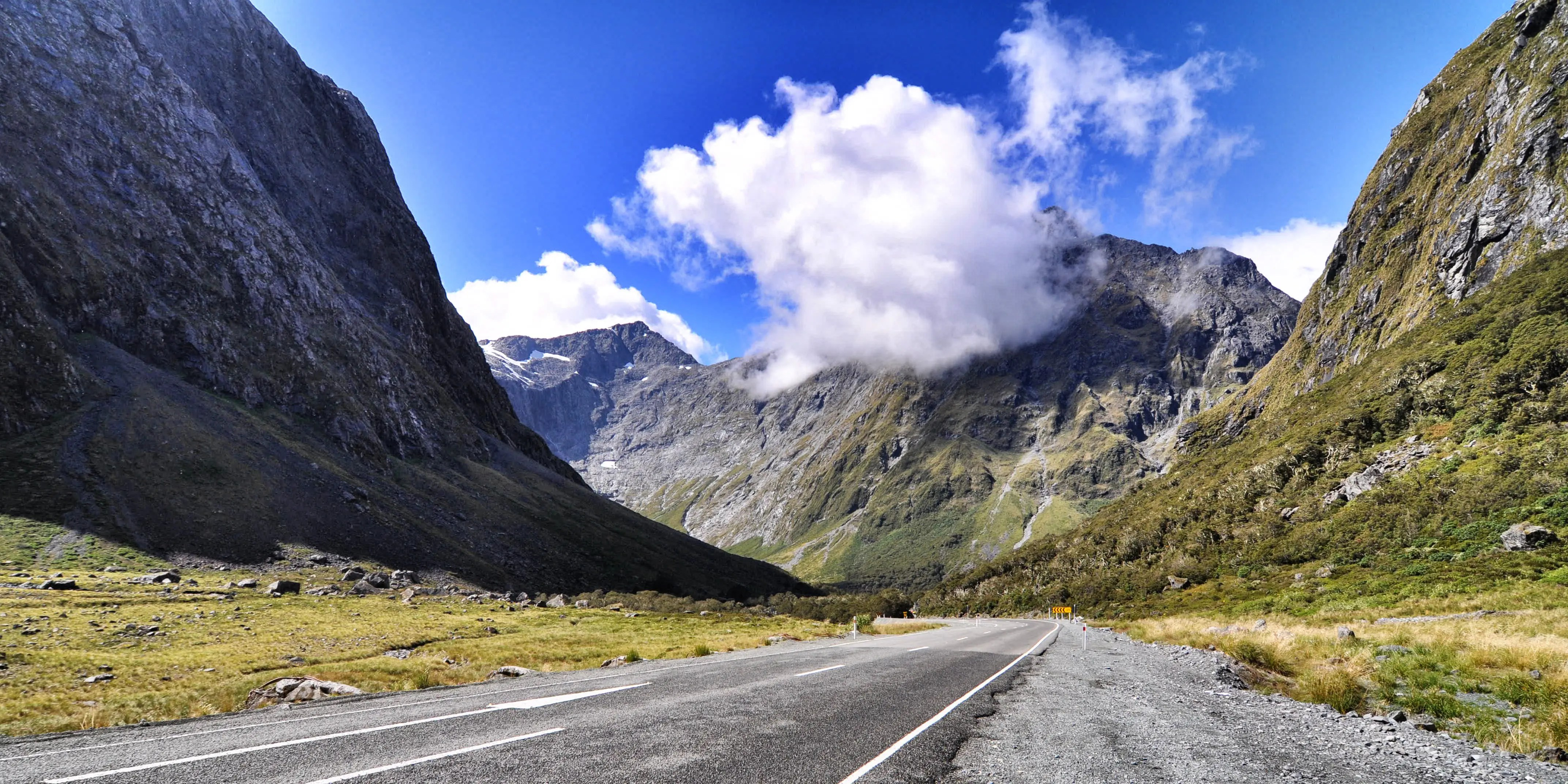 """The Milford Road in New Zealand winds for 144 miles through Fiordland National Park, in the heart of the Southern Alps. It also connects to Milford Sound, one of the filming locations for the """"Lord of the Rings"""" trilogy."""