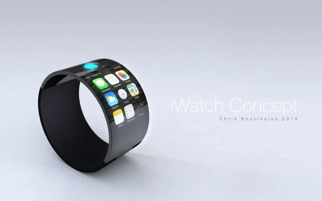 The watch could be thicker to allow more surface area, like a chunky bracelet.