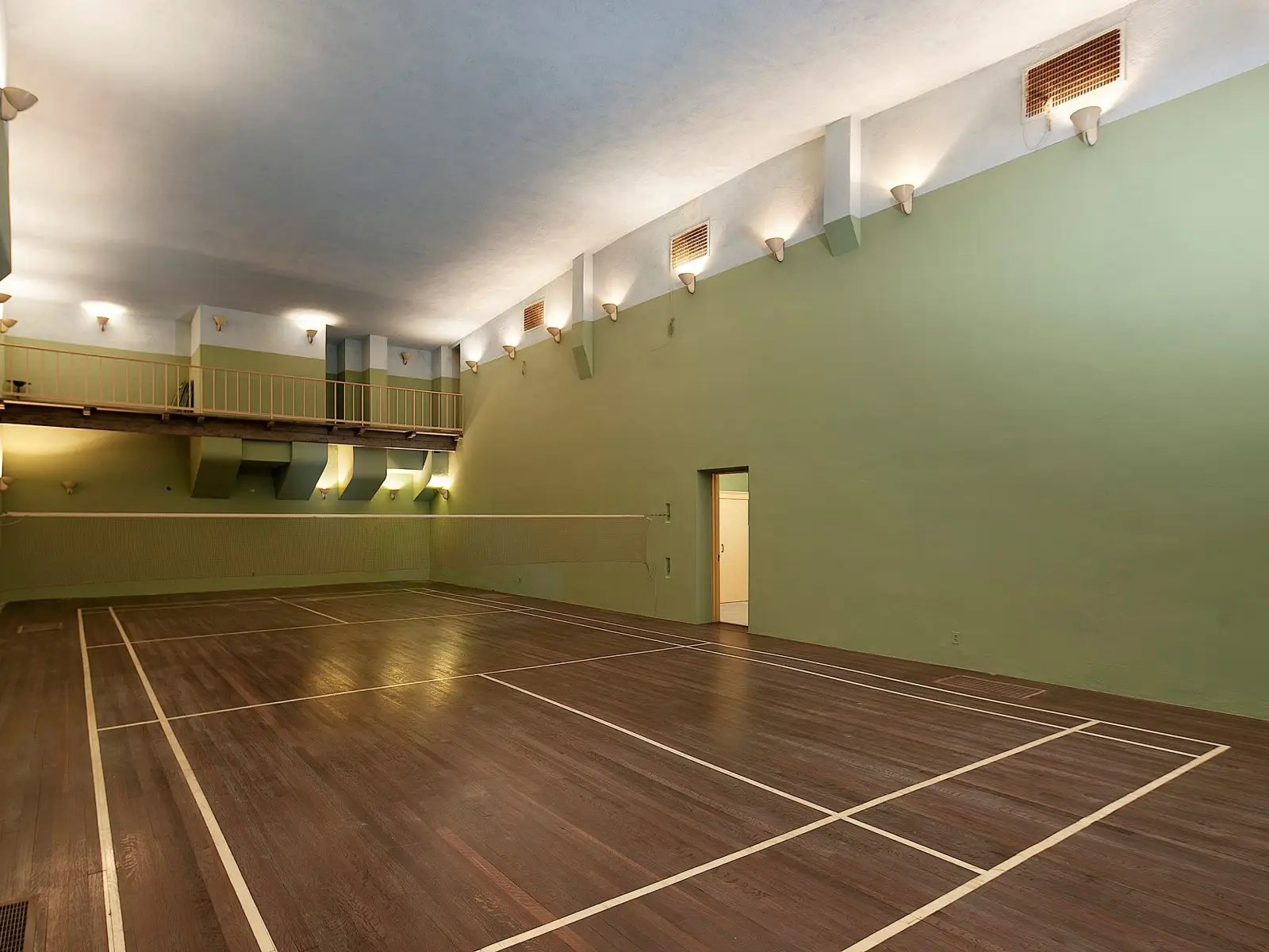 Downstairs is an underground badminton court with its own observation gallery.