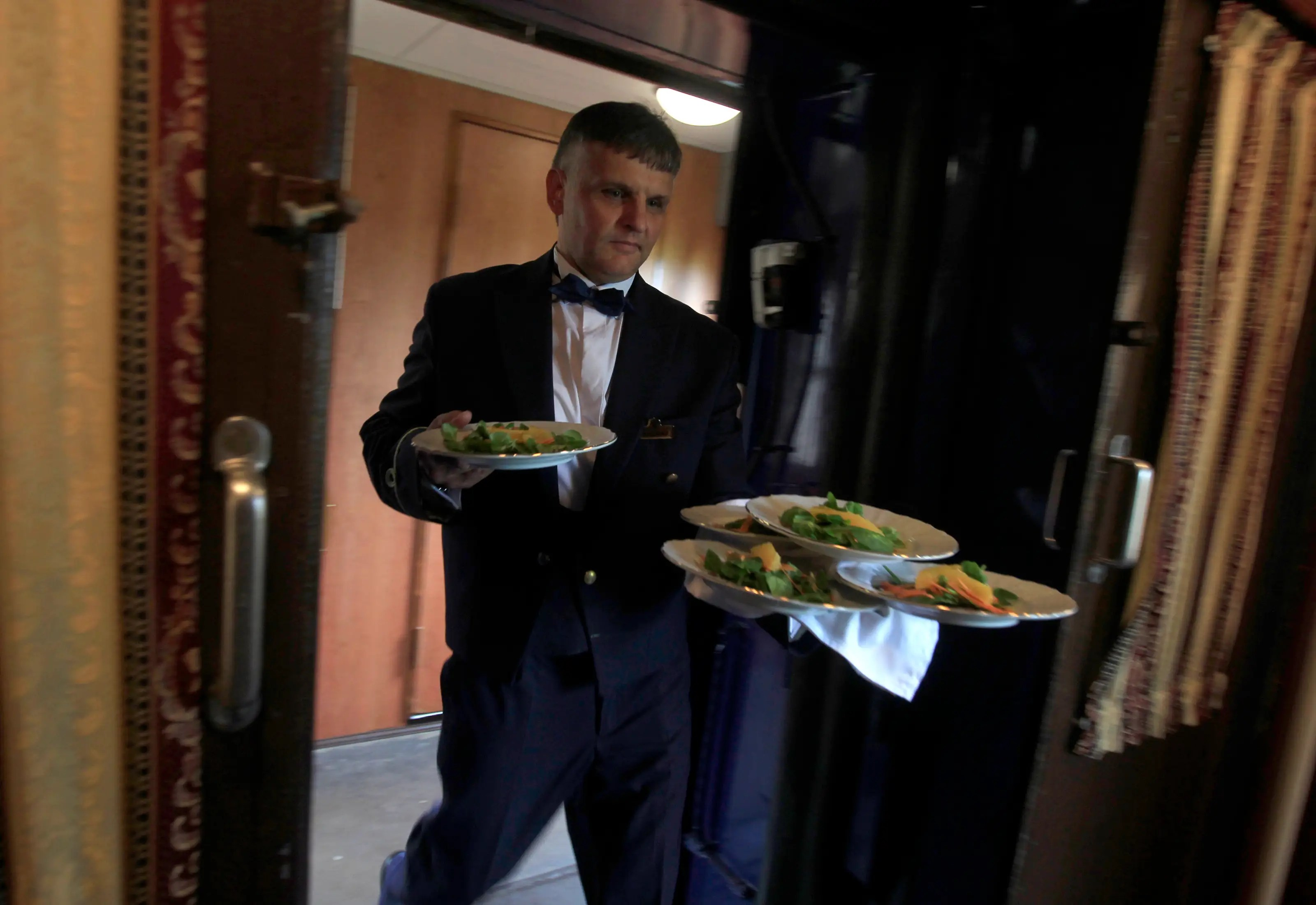 The train also have a full staff of waiters and chefs to accomodate all passenger requests.