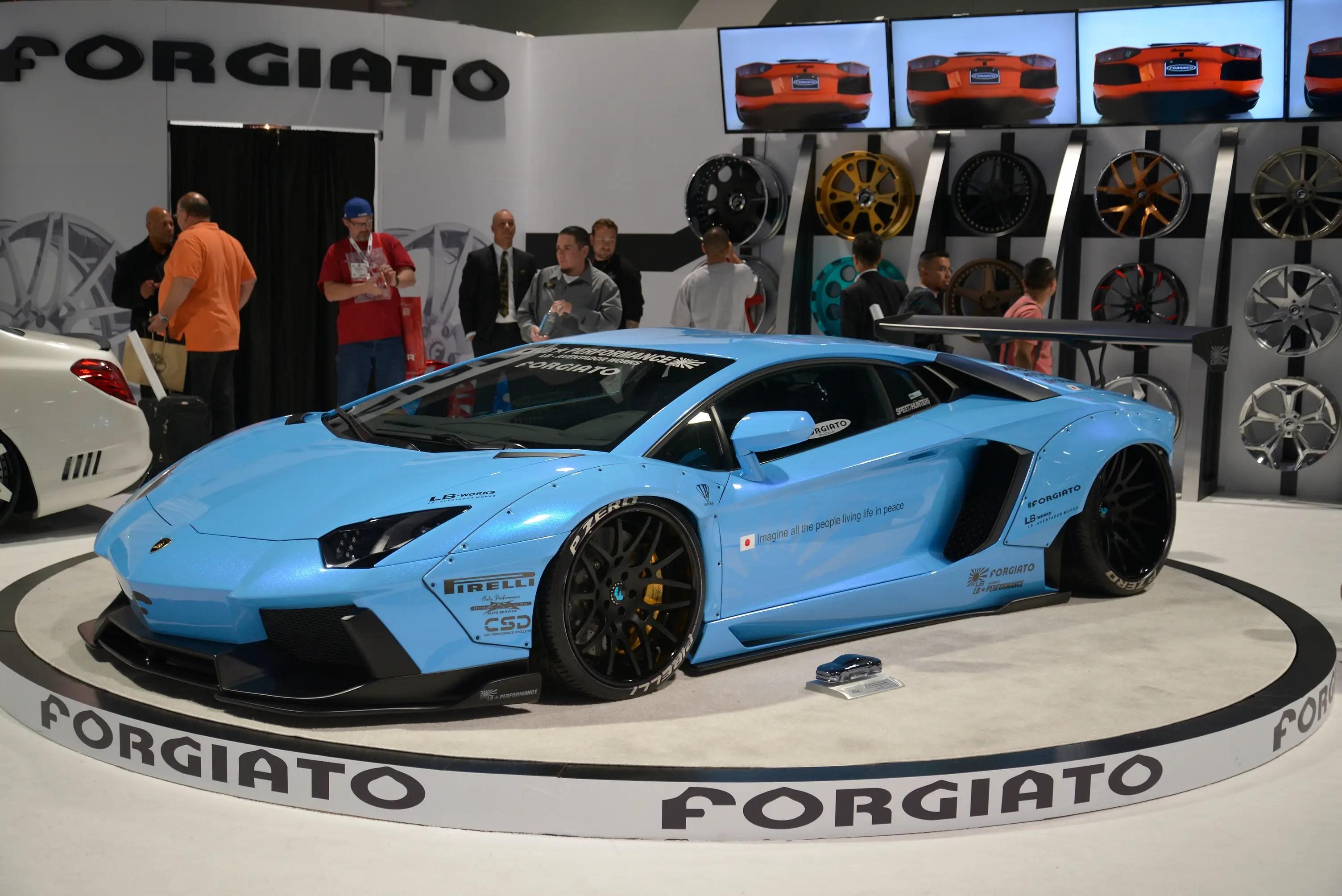 ... or this Lamborghini Aventador with aftermarket Forgiato wheels.