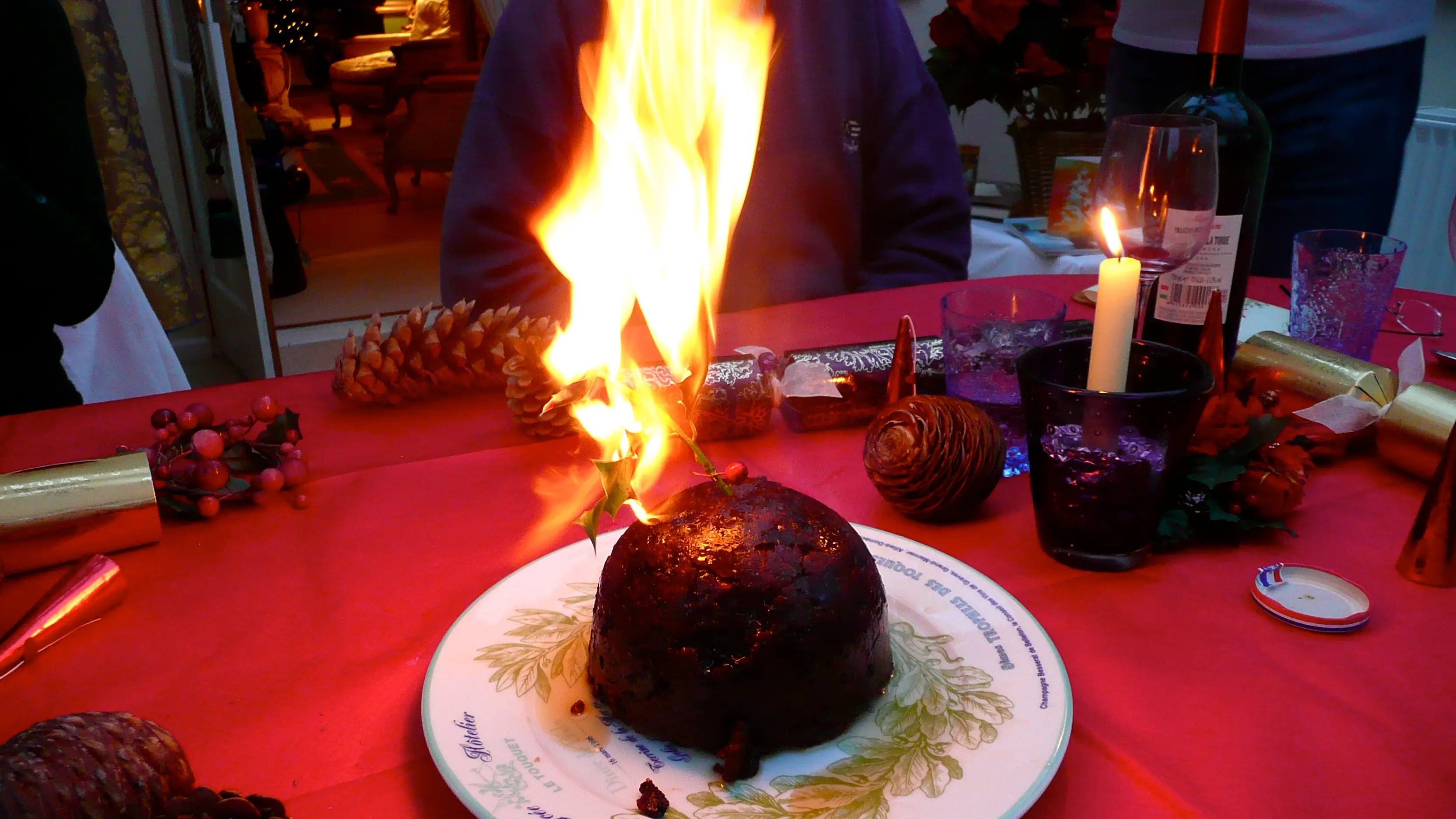 "We've all heard of ""figgy pudding,"" but in the United Kingdom, they actually eat it. Better yet, they cover their Christmas pudding with brandy and set it on fire."