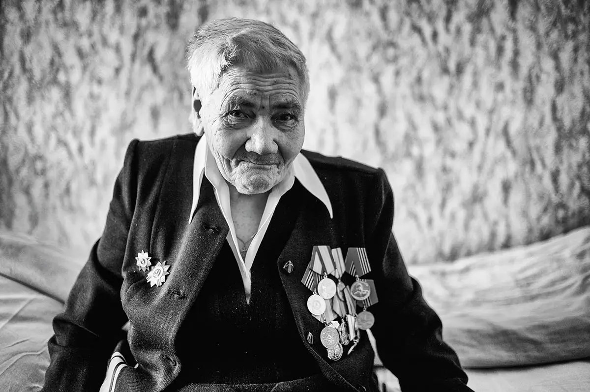 """Sofia, age 94. Profession: Nurse. Passion or Dream: """"I like good and tasty food and to read books."""""""