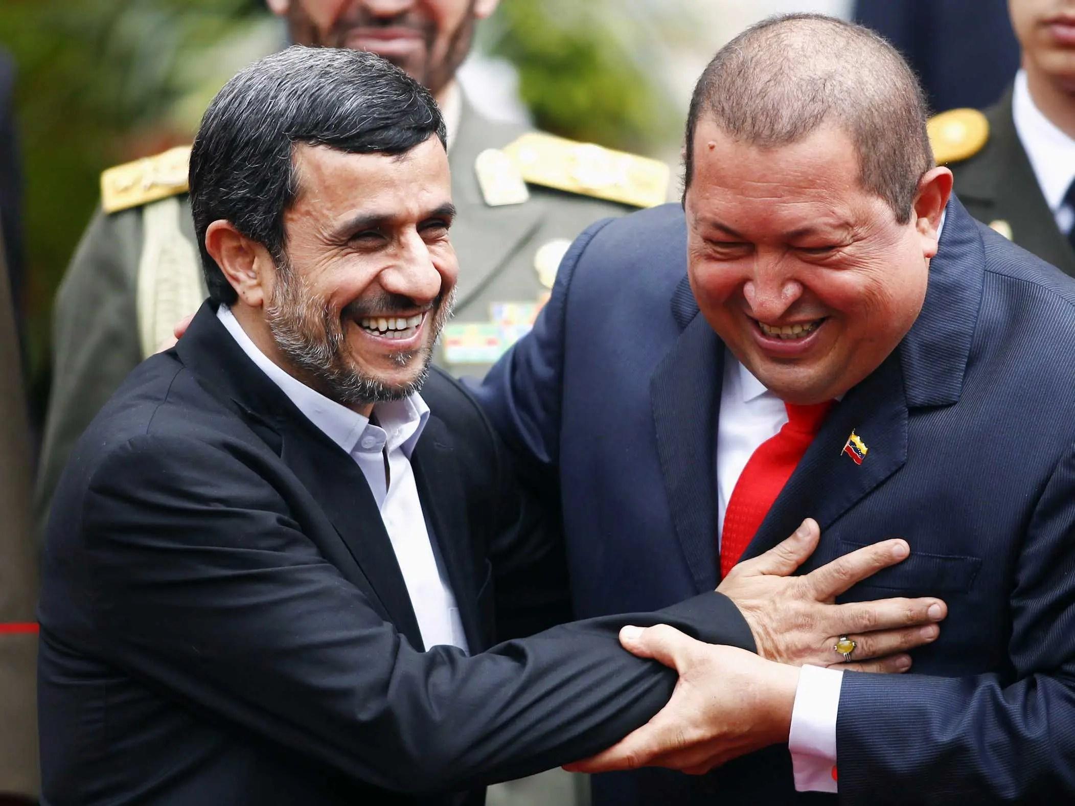 hugo chavez, Mahmoud Ahmadinejad,