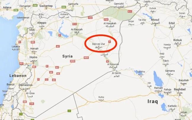 map syria