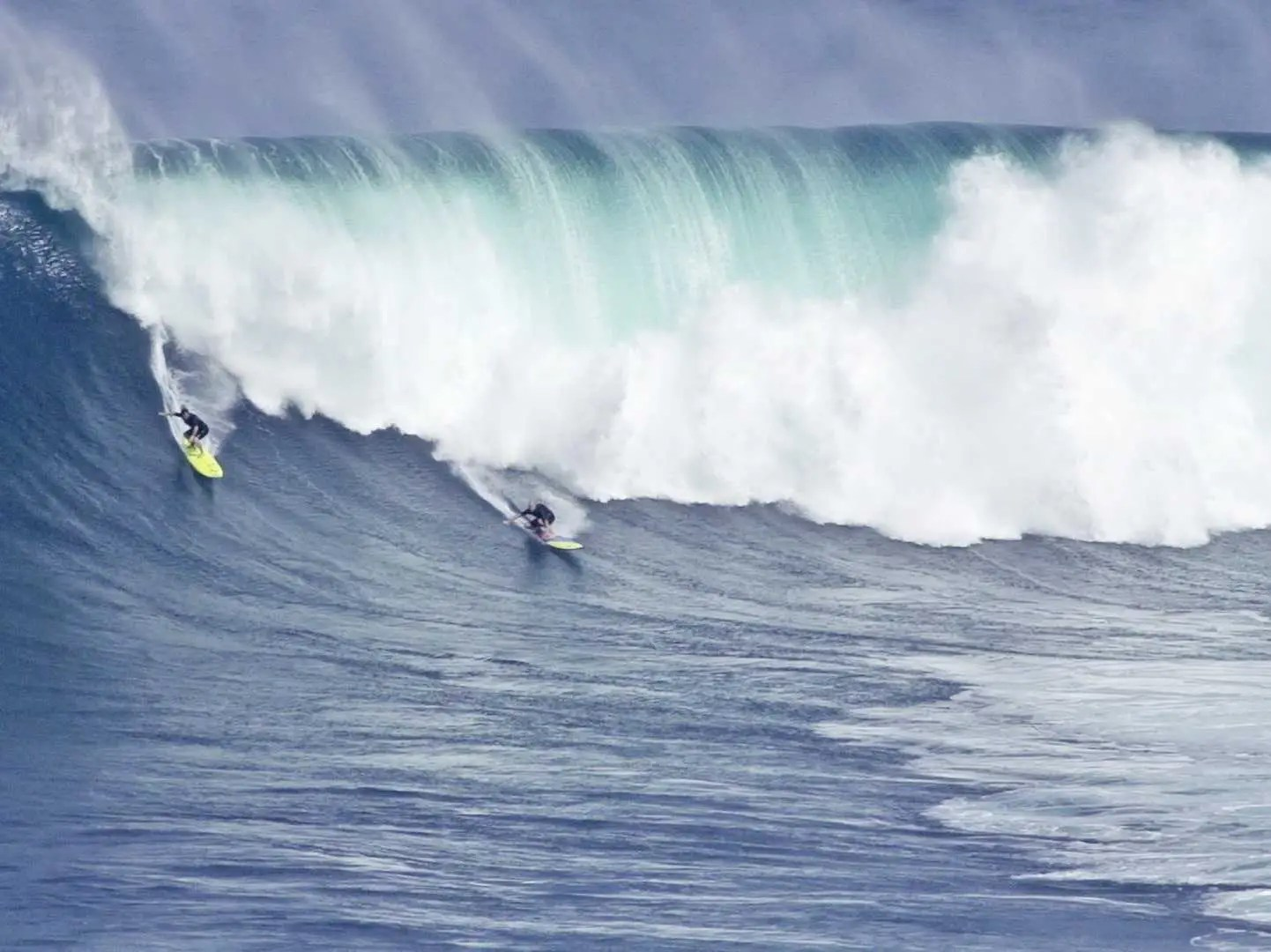 Surf Jaws (Pe'ahi in Hawaiian) in Maui, a spot that has consistently been ranked among the best for diehard surfers. Waves supposedly reach 120 feet.