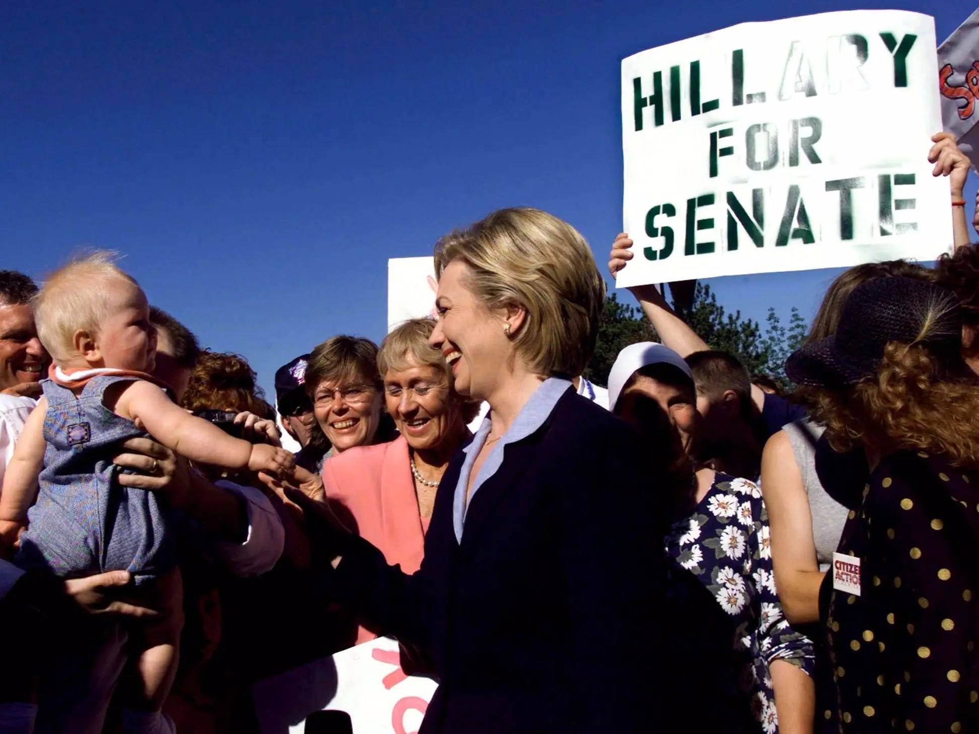 The first woman senator from New York, Clinton helped expand broadband across the state, expanded TRICARE, and secured $20 billion to rebuild New York after the terrorist attacks of September 11, 2001.