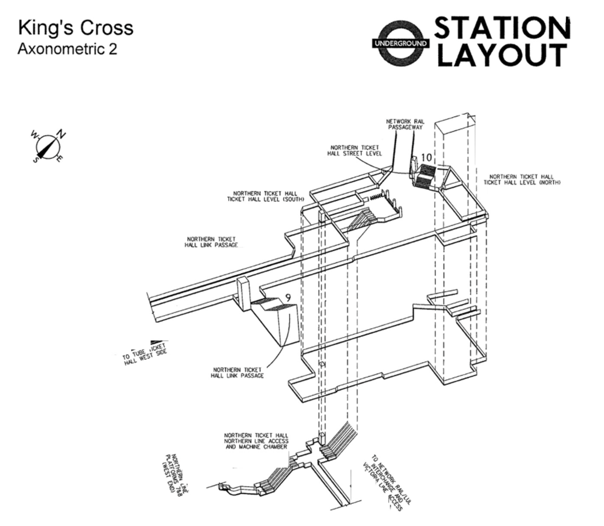 Axonometric 3d Diagrams Of Famous London Underground Tube