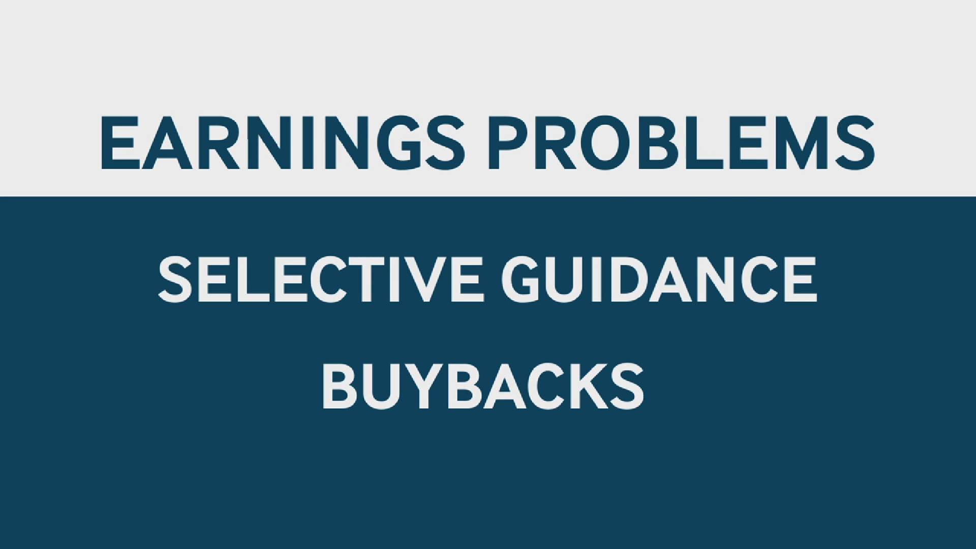 Furthermore, a lot of companies that shouldn't be buying back stock are buying back stock.