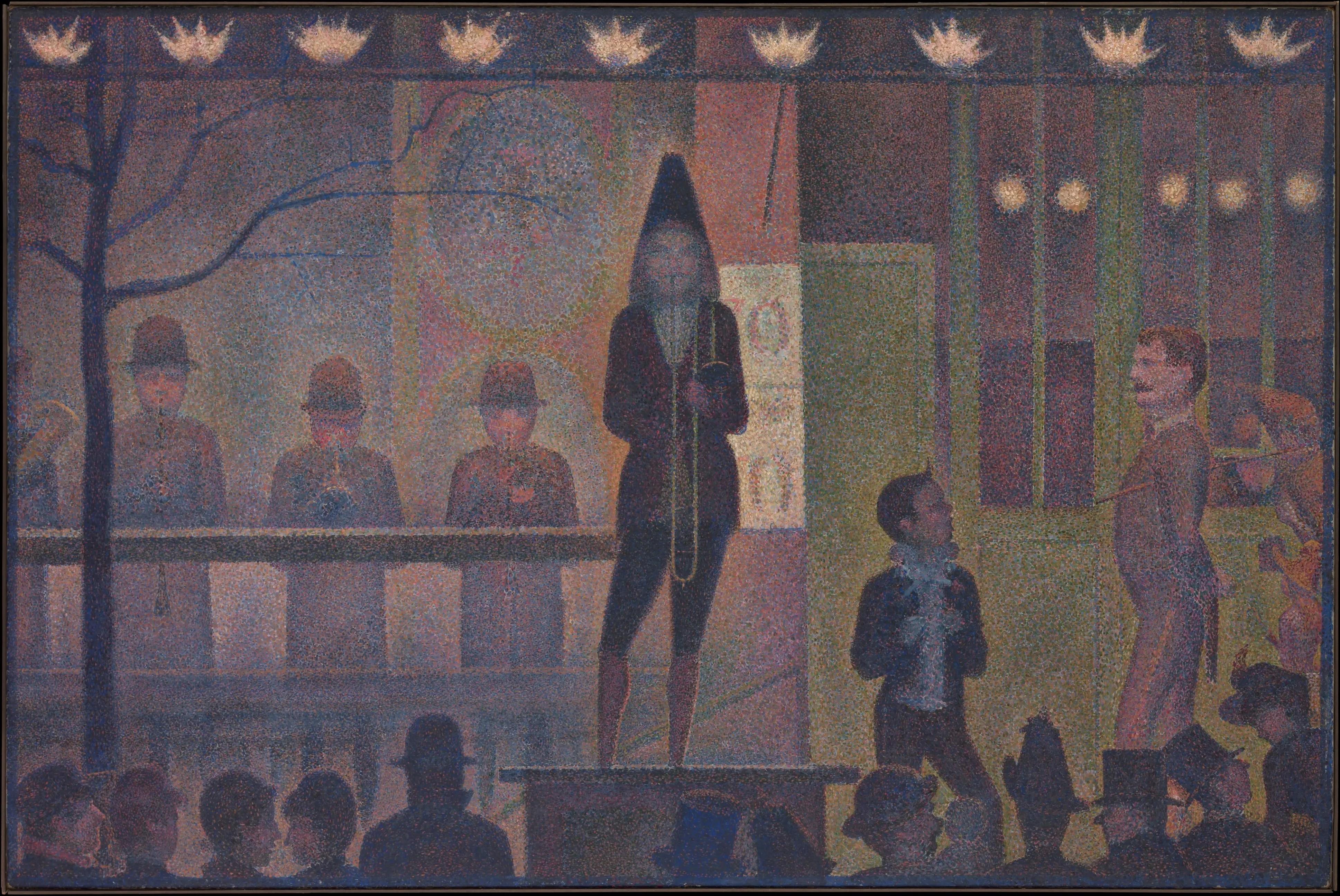 """Georges Seurat """"La Parade du Cirque"""" au Metropolitan Museum of Art à New York."""