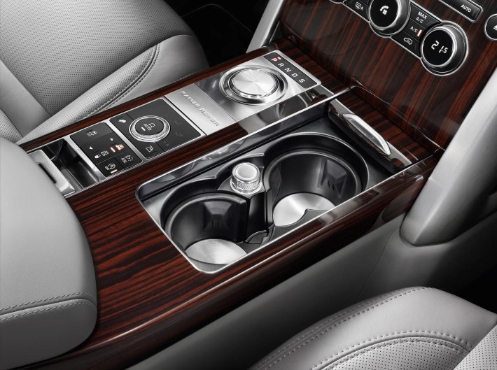All of the controls are located in the rear center console. There are also sockets so the passenger can charge just about any device.