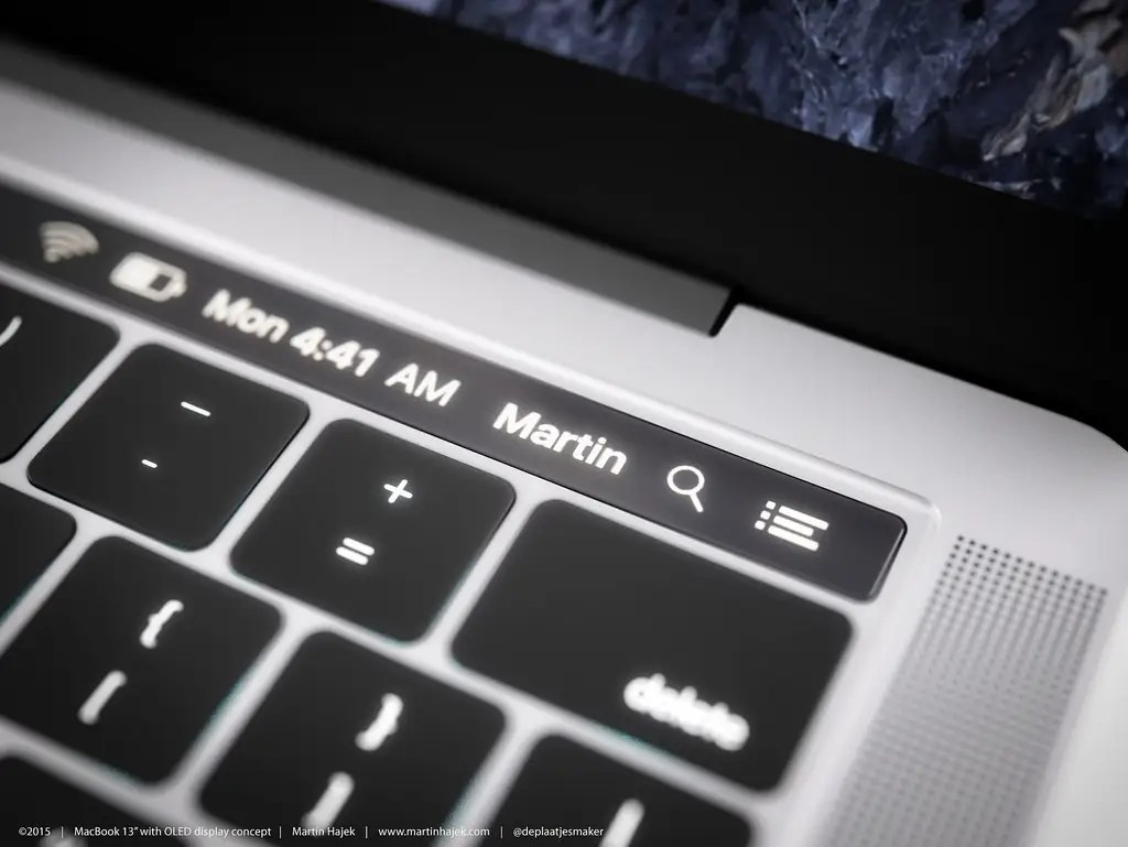 The touchscreen bar could be a great place for the traditional Mac menu bar.