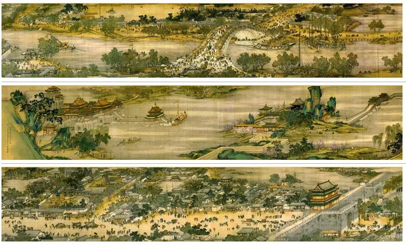 Kaifeng took the lead with 1 million people by 1000.