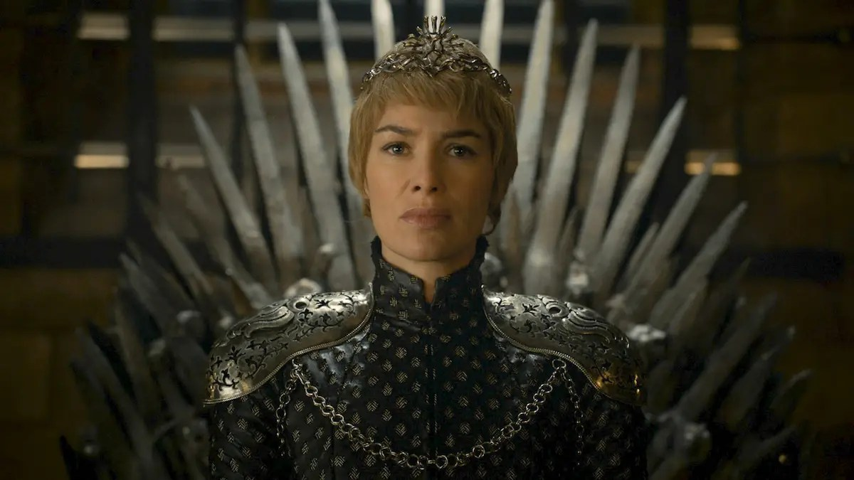 cersei iron throne game of thrones hbo