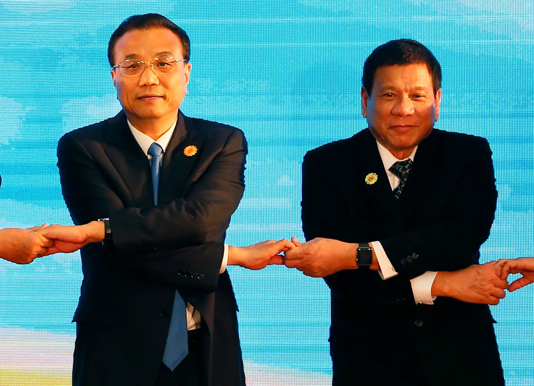 Li Keqiang and Rodrigo Duterte