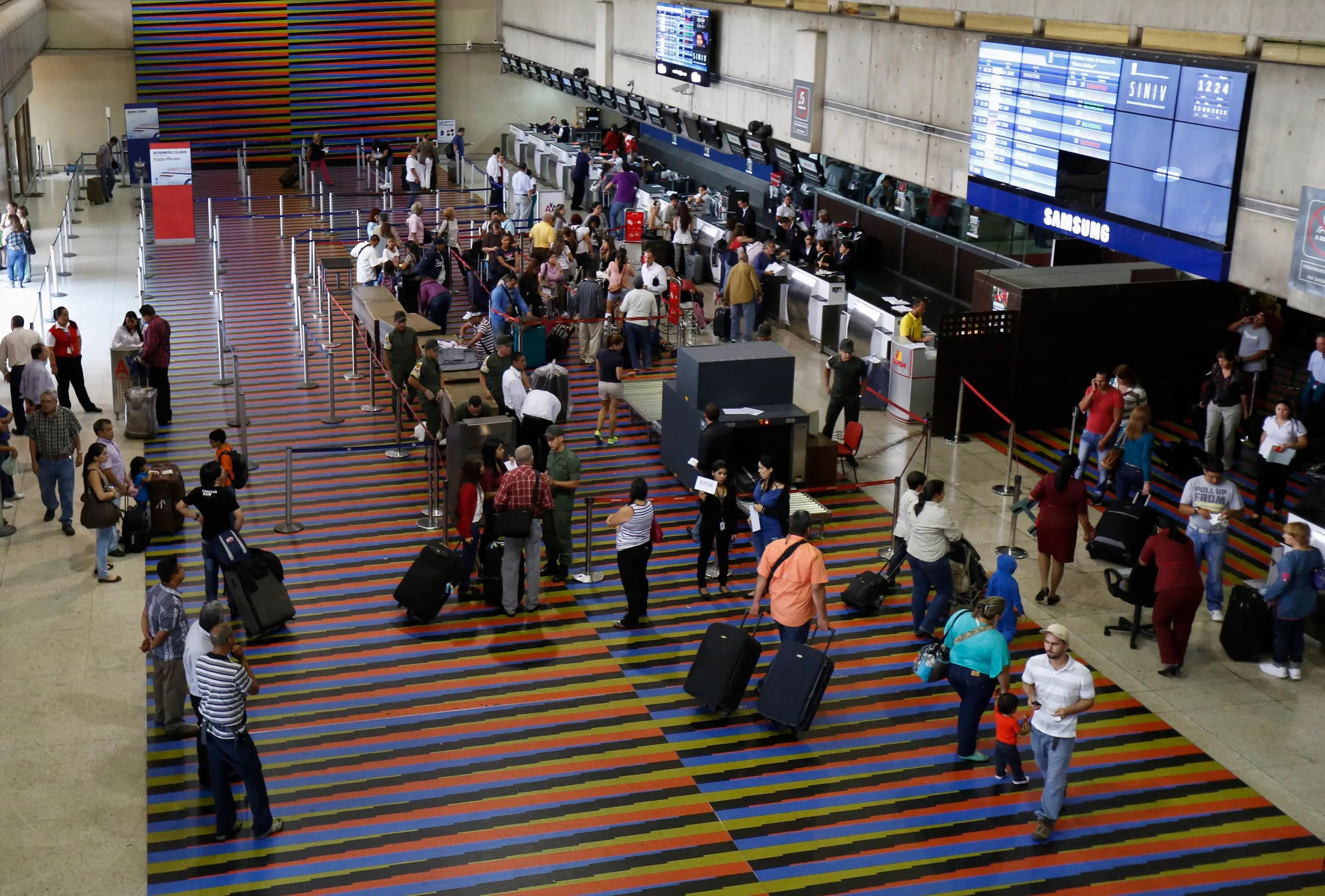 Venezuela Maiquetia Simon Bolivar international airport Caracas