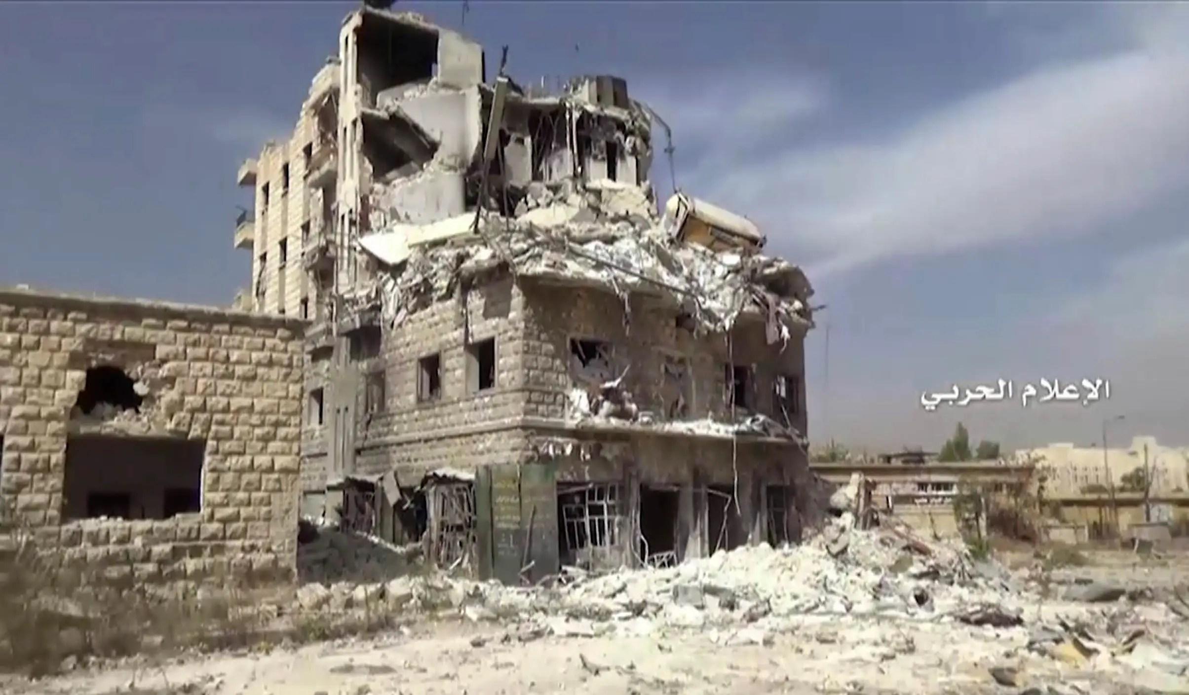 Aleppo Syria bombing fighting destruction
