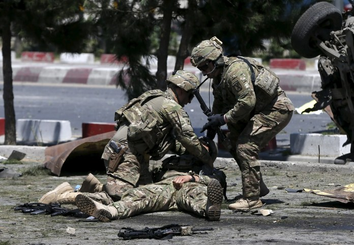 US troops soldiers wounded attack bombing war in Afghanistan Kabul Russia appears to be winning Afghan hearts and minds better than US Russia appears to be winning Afghan hearts and minds better than US rtx1ieq4