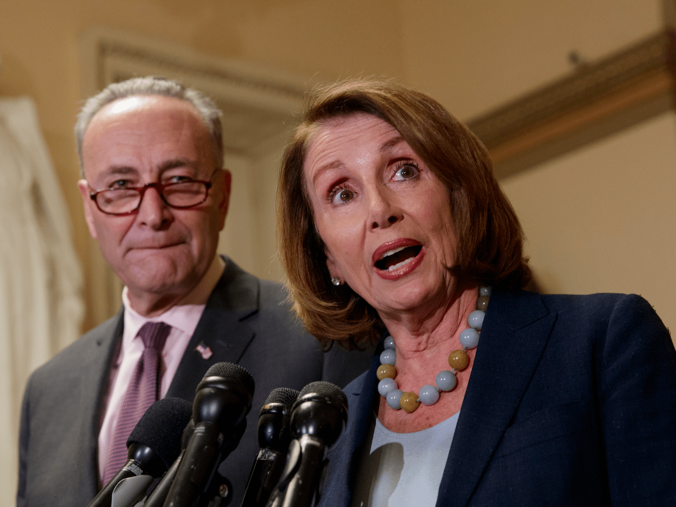 Image result for Chuck Schumer and Nancy Pelosi dancing