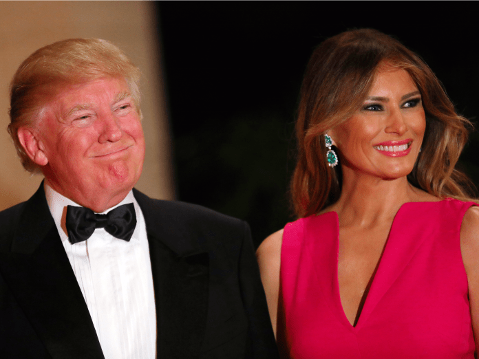 Donald and Melania Trump at an American Red Cross fundraiser at Mar-a-Lago Mar A Lago loses charity fundraising events after Charlottesville Mar A Lago loses charity fundraising events after Charlottesville rtx2zns5