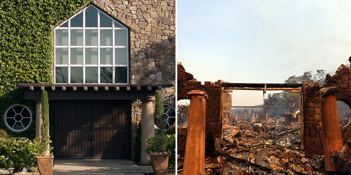 Image result for Signorello Estate winery in Napa before and after fire