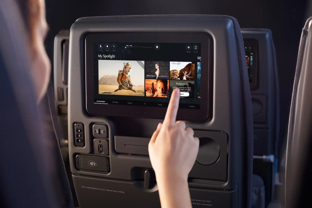 All passengers get Singapore Airlines' new KrisWorld infotainment system.