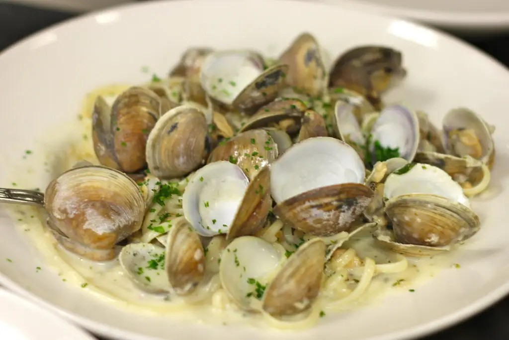 "Italians celebrate Christmas by making a meal they call the ""Feast of Seven Fishes,"" which features many different seafood items, like calamari, cod, anchovies, and clam linguine."