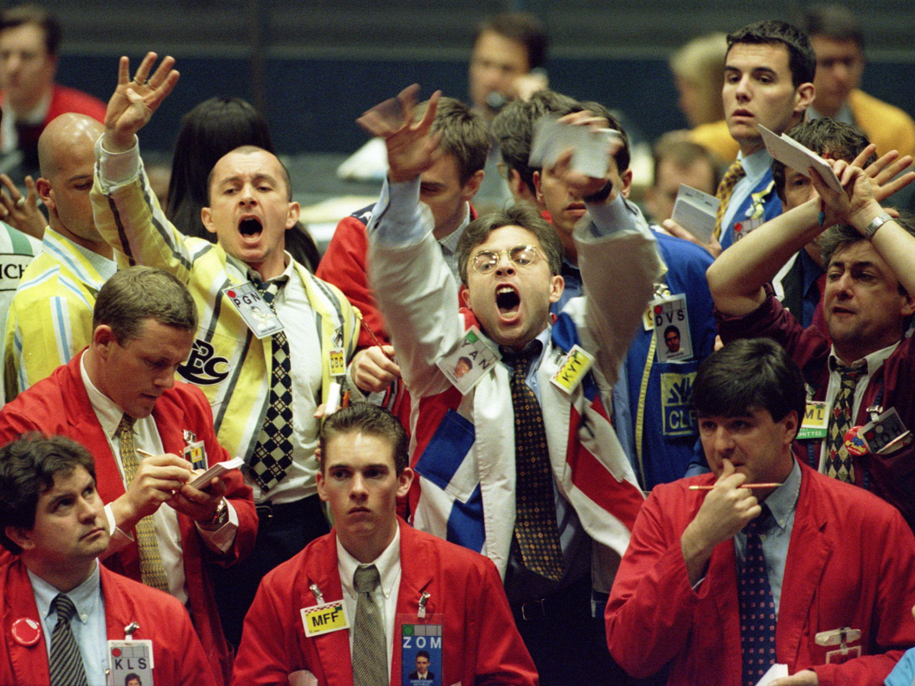 Traders excited pointing