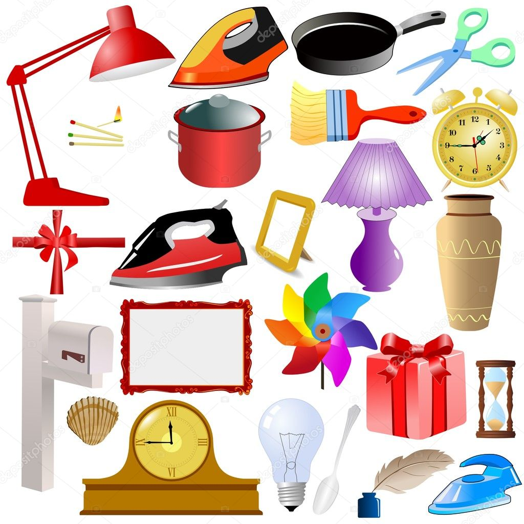 Set Of Of Home Objects