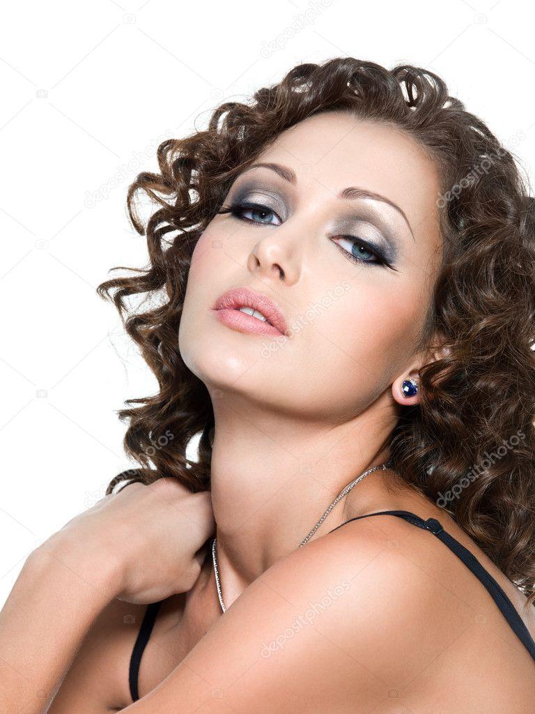 beautiful glamour woman with fashion makeup — stock photo