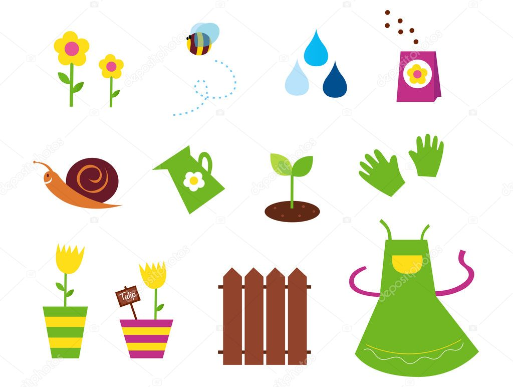 Garden Spring Amp Nature Icons And Elements