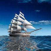 Sailing ship at sea — Stockfoto #4112478