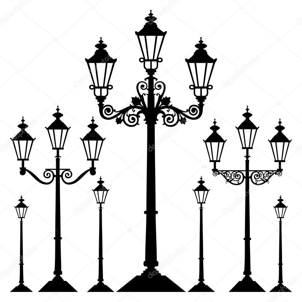 Vector Retro Street Light