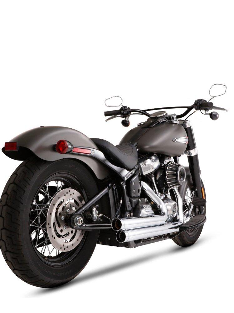 full system exhaust 2 w 2 rinehart harley softail street bob fxbb softail low rider fxlr 17 20