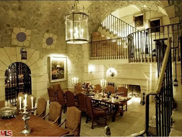 The home was built to host parties of 500, and has a commercial kitchen.