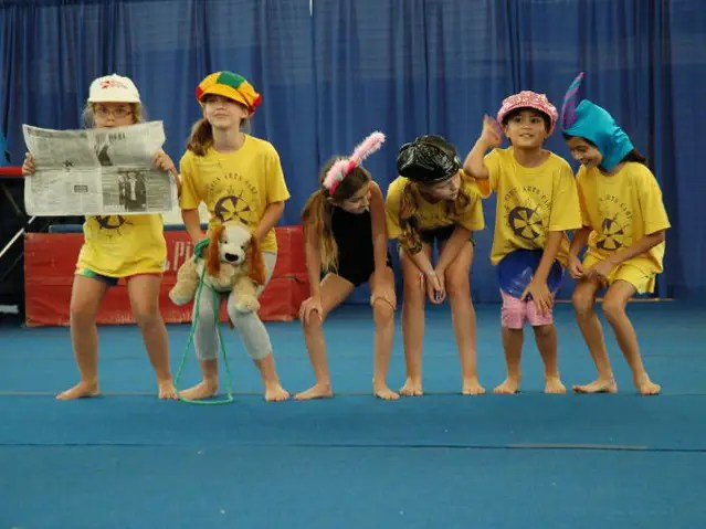 At Circus Arts Camp, kids learn to juggle, unicycle, and fly on the trapeze.