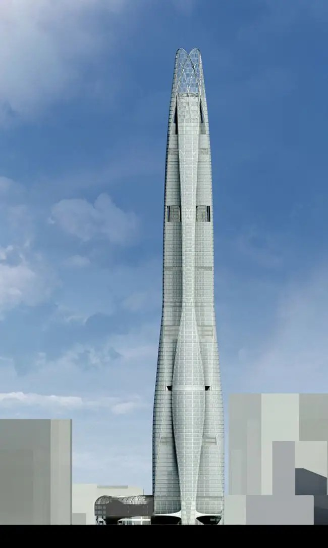 #7 CTF Tianjin Tower — Tianjin, China. Height (when completed): 1,738.85 feet